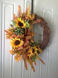 fall grapevine wreath by kyong my floral creations