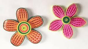 tutorial quilling flower how to make beautiful quilling flower using combing technique diy
