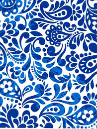 blue wrapping paper gift wrap 24 x 100 roll white and blue batik scroll
