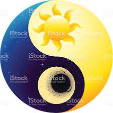 ying yang sun and moon stock vector more images of