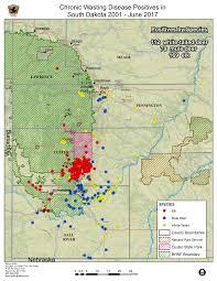 South Dakota County Map Sd Gfp Wildlife Diseases Chronic Wasting Disease