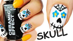matte skull nailart ii by natsyalencar on deviantart nailed it