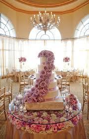 elegant purple wedding cake table with flowers archives weddings