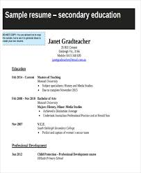 Teacher Resume Sample U0026 Complete by 28 Teacher Resume Templates Download Free U0026 Premium Templates