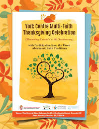 york centre multi faith thanksgiving celebration