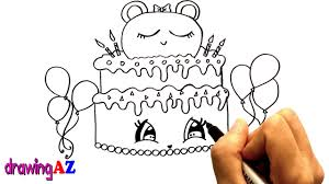 cute birthday cake coloring pages for kids drawing for fun and