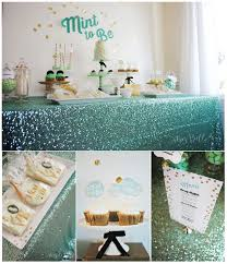 mint and gold mint to be bridal shower blush mint bridal