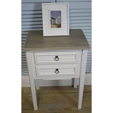 two drawer bedside table a pair of white vintage shabby chic two drawer bedside tables
