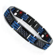 blue bangle bracelet images Urban jewelry men 39 s titanium magnetic link bangle bracelet with jpg
