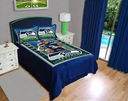 nfl bedding sets beds decoration dallas cowboys queen bedding it s all furnitures seattle seahawks russell wilson gameday comforter set biggshots