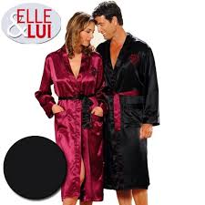 achat robe de chambre homme robe de chambre femme satin privé