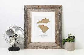 any two states wedding gift personalized state
