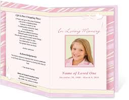 make your own funeral program how to create your own funeral program funeral program site