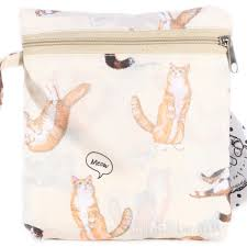 pal japan meow why hmm cat neko eco bag with zipper bag pale yellow