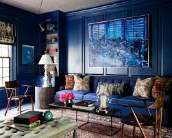 a closer look at six enigmatic colors in home decor high gloss indigo paint for living room