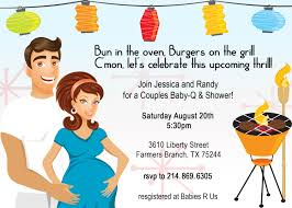 Babyshower Invitation Card Baby Shower Couples Invitations Theruntime Com