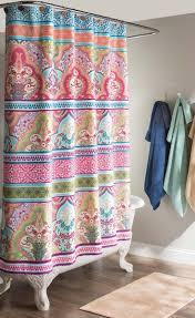 Bathroom Shower Curtain Ideas Curtain Boho Chic Shower Curtains Best Cutains Feminine Bathroom