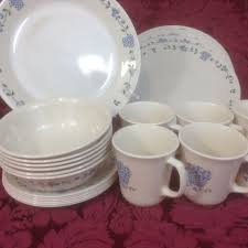 Corelle 76 Piece Dinnerware Set Corelle Corning Blueberry Bouquet Dinnerware 24 Pc Set