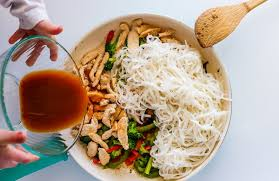 rice cuisine chicken stir fry with rice noodles 30 minute meal