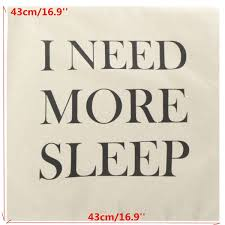 online shop pillowcase i need more sleep letters bed festival