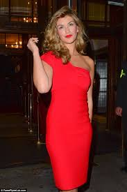 amy willerton opts for racy red lipstick and form fitting one