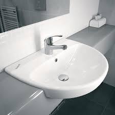twyford e100 round 1 centre tap hole 550x440mm semi recessed basin