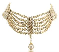 pearl necklace chokers images Natural pearl and diamond choker necklace the necklace composed jpg