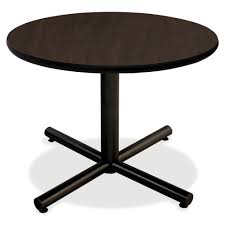 round particle board table top llr62576 lorell hospitality espresso laminate round tabletop
