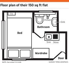 200 Sq Ft Apartment Floor Plan by Rise Of U0027nano U0027 Flats In Hong Kong East Asia News U0026 Top Stories