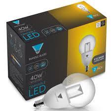 Led Light Bulbs With Candelabra Base by Amazon Com Triangle Bulbs T95051 3 Va Led 40 Watt Equivalent