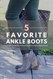 So Ankle Boots 5 Favorite Ankle Boots