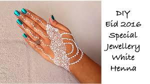 how to make easy white henna mehndi jewellery styled tattoo design