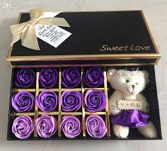 Best Gift For Women Wholesale Super Romantic Soap Flowers U0026 A Bear Courtship Gift For