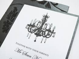 personalised chandelier wedding invitation the wedding parcel