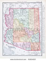 map of the united states with arizona highlighted arizona map stock images royalty free images vectors