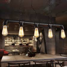 Lighting For Dining Room Aliexpress Com Buy Water Pipe Steampunk Vintage Pendant Lights