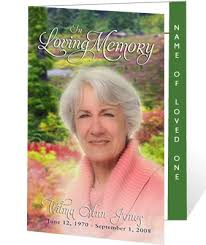funeral program covers 214 best creative memorials with funeral program templates images