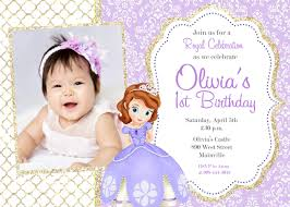 free sofia the first birthday invitations images invitation