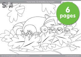 treetop family coloring pages u2013 episode 16 super simple
