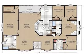 4 5 Bedroom Mobile Home Floor Plans by Champion Double Wide Mobile Home Floor Plans