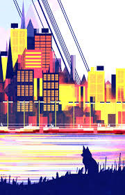 colorful cities geometric and colorful 2d illustrations of cities u2013 fubiz media