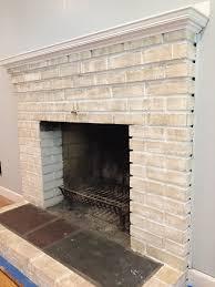 outdoor whitewash paint with whitewashing brick fireplace
