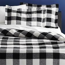 buffalo plaid linen full queen duvet cover cb2