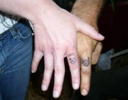 his and hers matching skull tattoos skull rings matching
