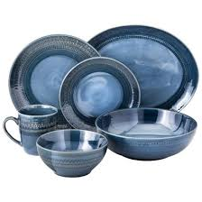 threshold kingsland dinnerware collection blue for the home