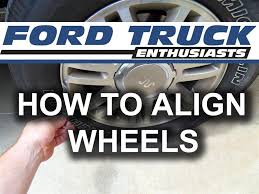 Ford F150 Truck Length - how to align wheels on ford f 150 f 250 youtube