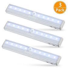 wireless led under cabinet lighting sunnest 3 pack motion sensor closet lights wireless led under
