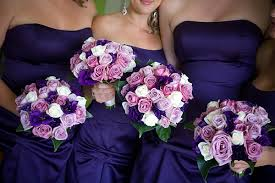 wedding flowers for bridesmaids bridesmaid bouquets in varying shades of purple i think i see my