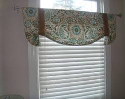 Bathroom Window Valance by Paisley Valance Etsy
