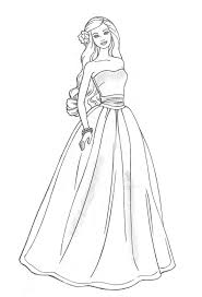 barbie doll princess coloring pages drawing art ideas